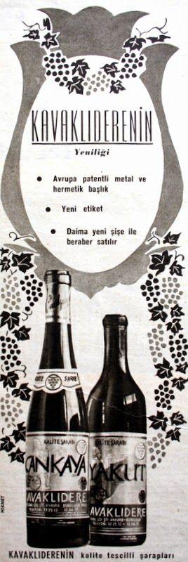 """OĞUZ TOPOĞLU : wines of Turkey = """"kavaklidere"""" kavaklıdere şarap 1964 nostaljik eski reklamlar"""