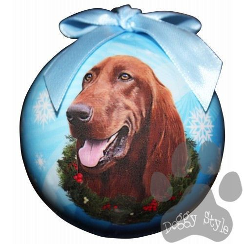 Irish Setter Shatterproof Dog Breed Christmas Ornament http://doggystylegifts.com/products/havanese-shatterproof-dog-breed-christmas-ornament