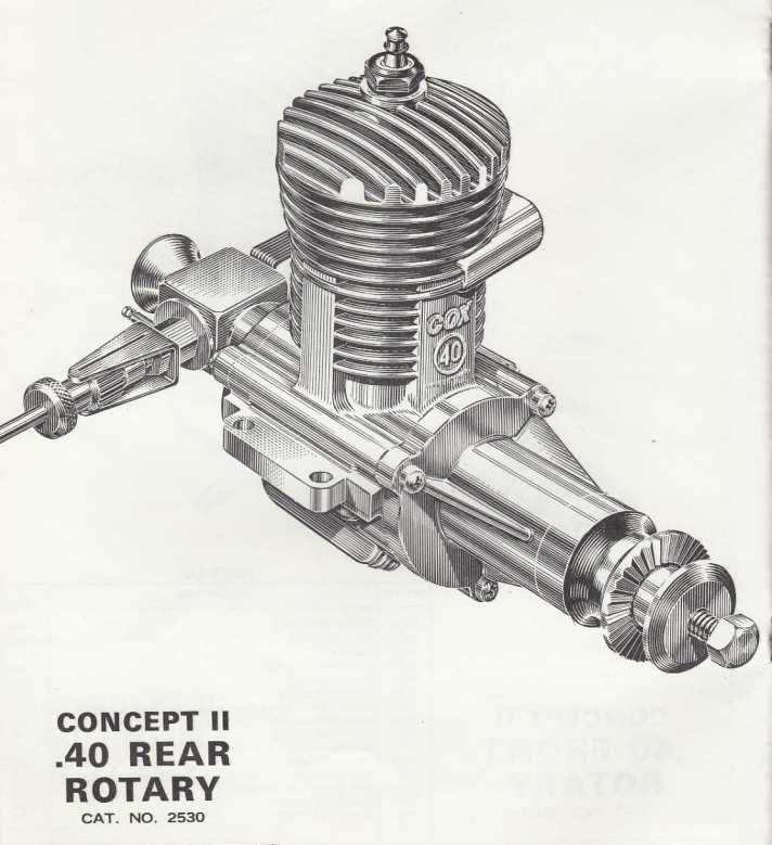 Cox Concept 2 .40 RR R/C