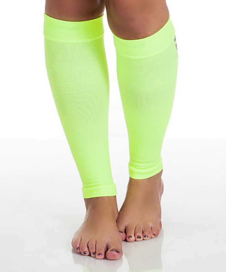 Neon Calf Compression Running Sleeves
