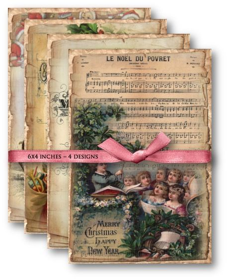 Vintage Christmas Printables for your DIY projects and Crafts