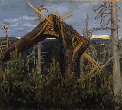Akseli Gallen-Kallela, The Broken Pine, 1906, oil on Canvas, 124 × 137cm, Ateneum Art Museum, Finnish National Gallery/Central Art Archives/Petri Virtanen