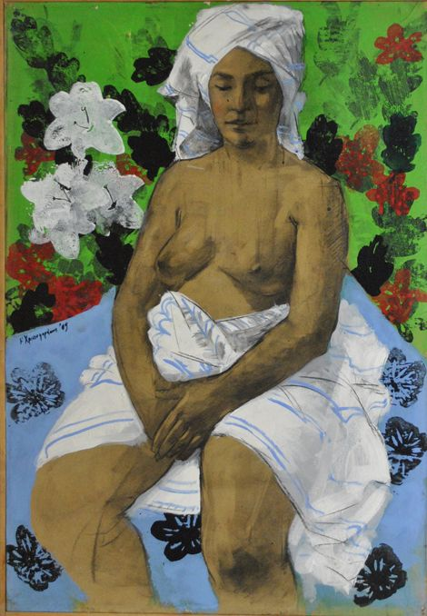 Untitled Original painting by Nikos Christoforakis Mixed media Size: 100x70cm