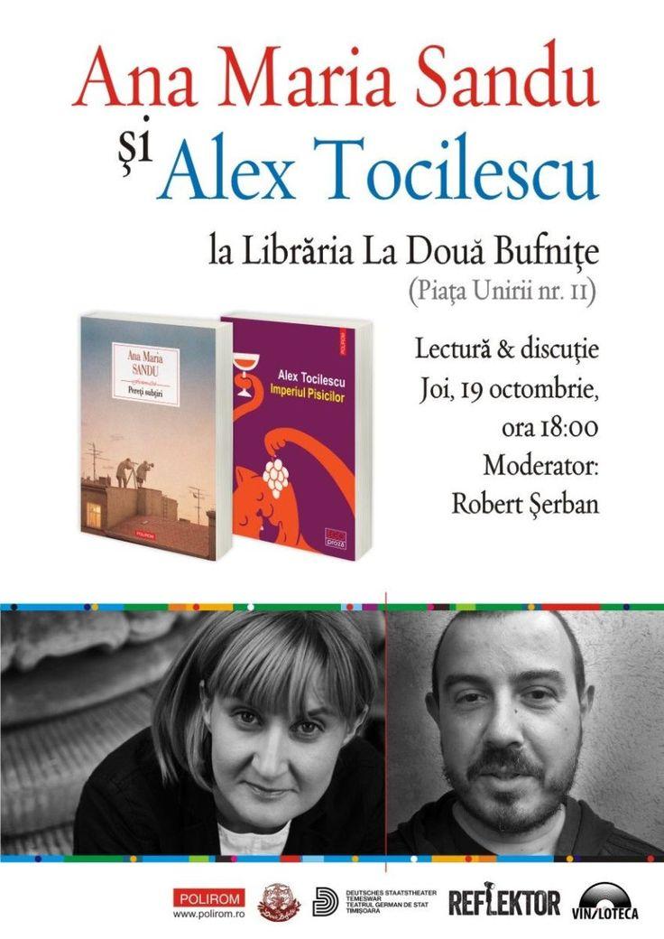 Editura Polirom vă invită joi, 19 octombrie, de la ora 18:00, la librăria La Două Bufniţe (Piaţa Unirii, nr. 11) din Timişoara, la un eveniment dedicat prozei scurte, o seară de lectură şi discuţii…