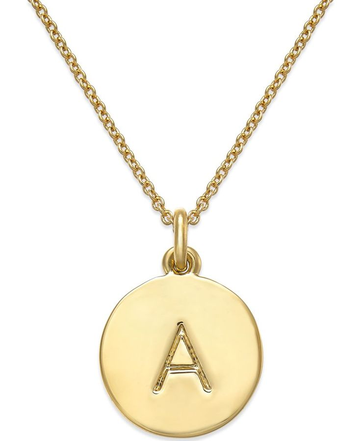 kate spade new york 12k gold plated initials pendant necklace jewelry watches