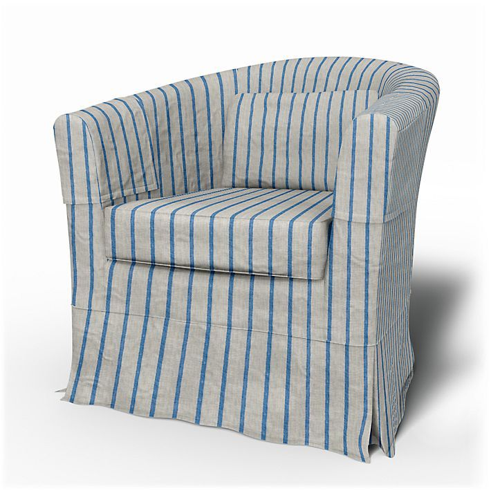 Tullsta, Armchair Covers, Armchair, Loose Fit Country using the fabric Brera Fino Cobalt
