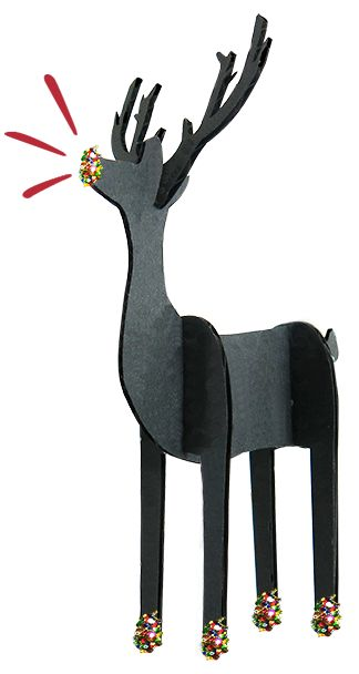 Crafty Kit's Multi glitter Reindeer!  Make your own Christmas decorations. www.crafty-kit.com