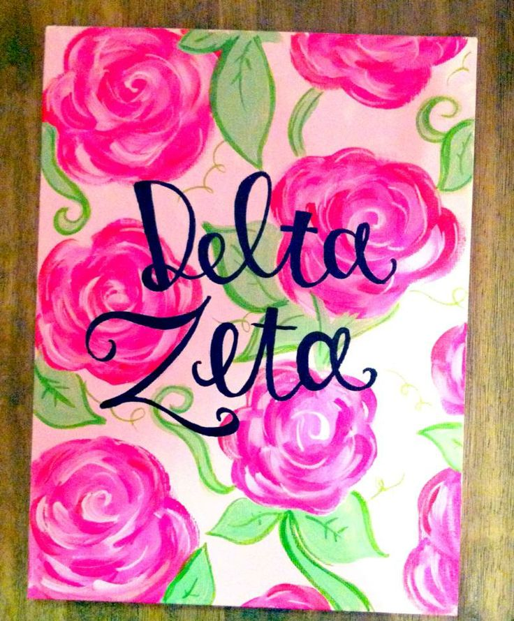 Gorgeous Delta Zeta canvas