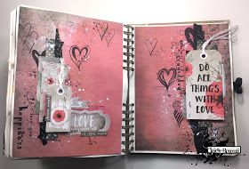 Art journal spread by Cindy Brown