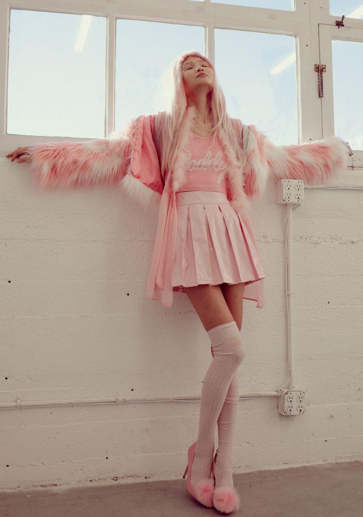 24HRS X Dolls Kill Princess Pastel Vinyl Skirt | Dolls Kill
