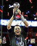 Get This Special Offer #6: Tom Brady with the Vince Lombardi Trophy Super Bowl 51 - NFL Photo (New England Patriots) 8x10 Framed