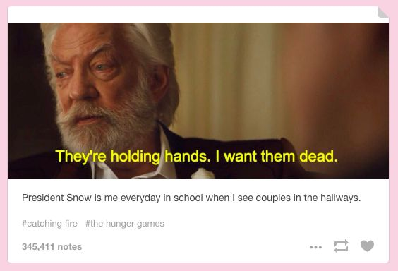 """When they made President Snow seem relatable. 