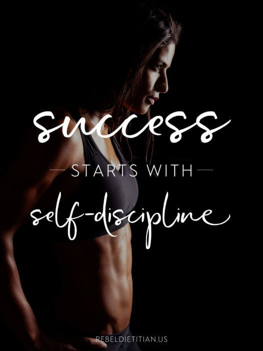 Success starts with Self-discipline