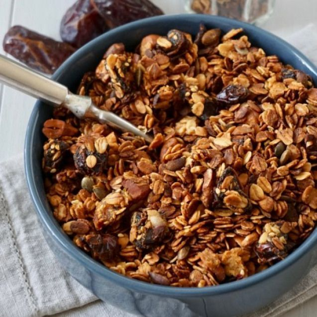 Date Cashew And Honey Granola. Date Cashew And Honey Granola {Gluten Free  Refined Sugar Free} #party #snacks - #cashew #gluten #granola -