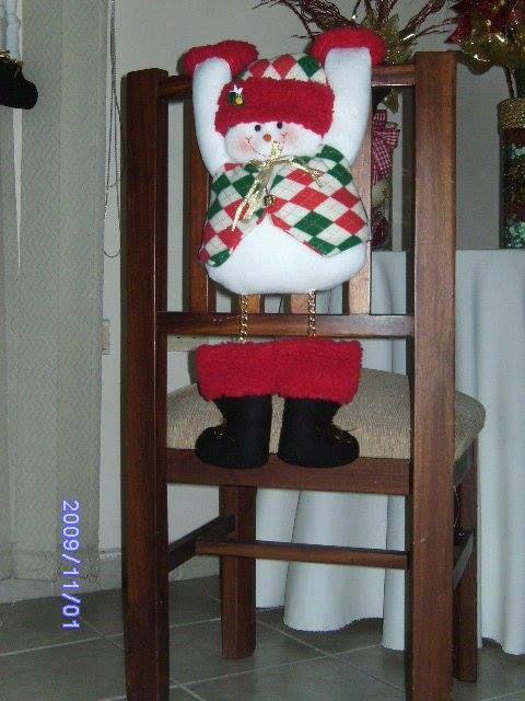 muñeco de nieve silla