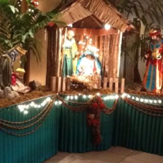 Nativity scene at Hotel Alejandro