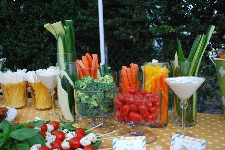 Veggie Platter for Alli's bridal shower great idea.