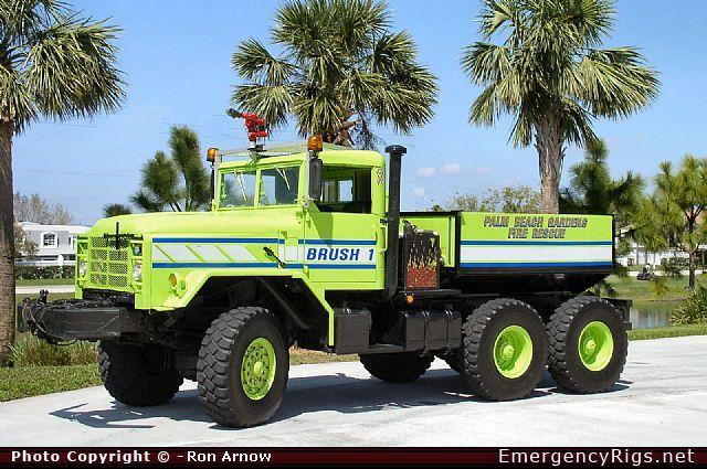 Palm Beach Gardens Fire Rescue Emergency Apparatus Fire