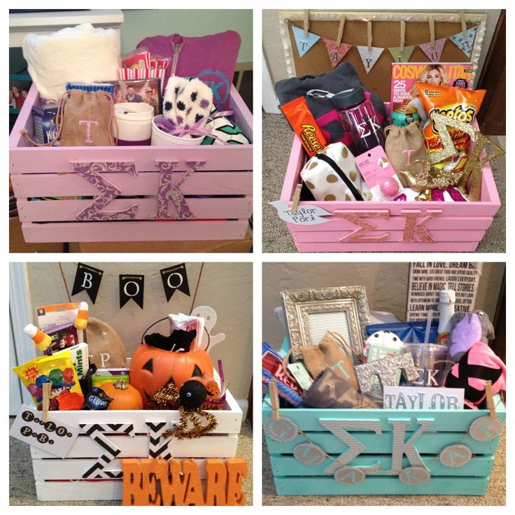 Sigma Kappa Big & Little week baskets for my little                                                                                                                                                                                 More