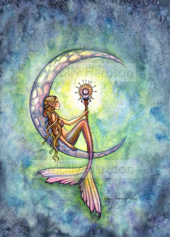 Mermaid Art Fantasy Print by Molly Harrison 5 by MollyHarrisonArt, $10.00
