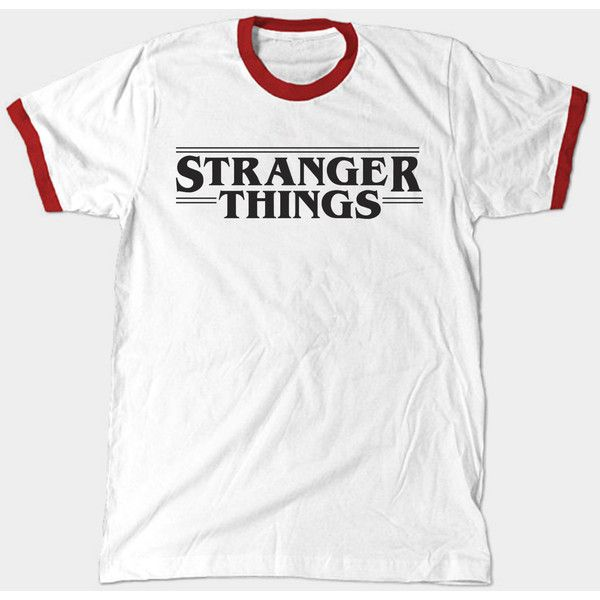 Stranger Things Ringer ($20) ❤ liked on Polyvore featuring tops, cotton shirts, white cotton shirt, white top, shirt top and nebula shirt