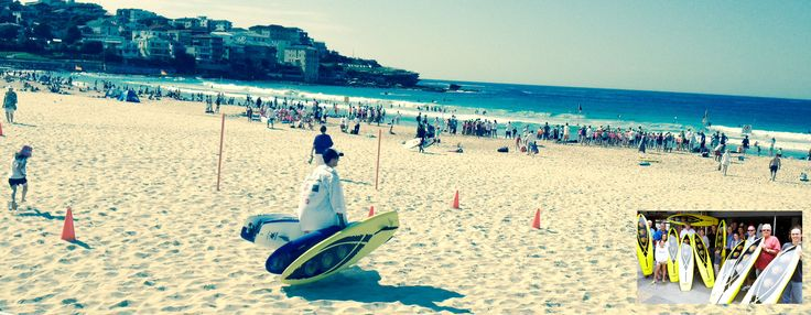 SPOTTED: 2 Hurricane's Nipper Boards at Bondi Beach this morning.  We're happy to see them on the beach and in the water. Nippers today, potential future Life Savers. Awesome!