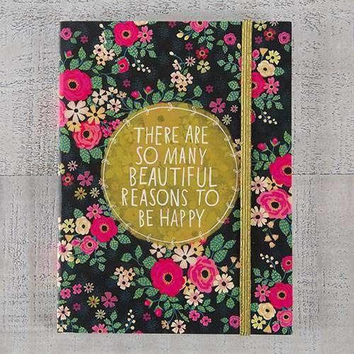 Natural Life Σημειωματάριο με λάστιχο «So Many Beautiful Reasons»