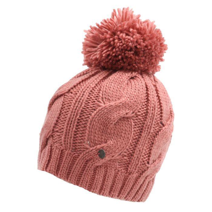 UKKolours.com - Bench Lavendah Knitted Bobble Hat Ash Rose Pink