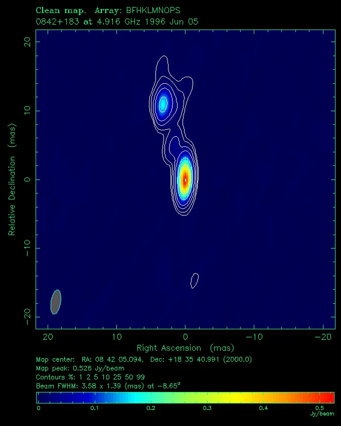 The Quasar QSO J0842 1835 Whose Path Was Gravitationally Altered By Jupiter In 2002
