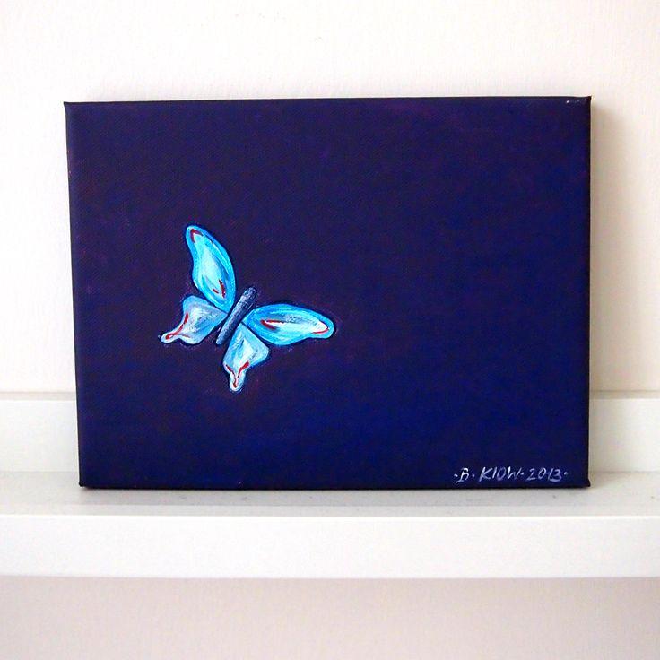 malý motýlek vmodrém   Ateliér B. KIOW