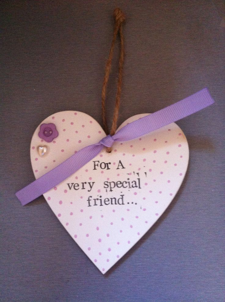 Hanging heart, handmade gift, friend gift.