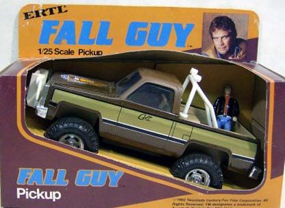 """Fall Guy - 1/25th Scale Diecast Pick Up with 3 3/4"""" Figure (MIB)"""