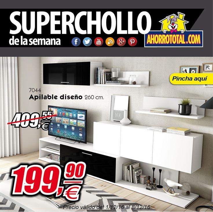 Apilable de salón por por solo 199,90 Ahorra un 51%      #oferta #chollo #muebles #descuentos