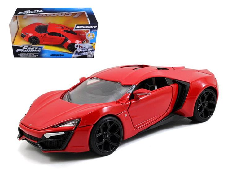 "Lykan Hypersport ""Fast & Furious 7"" Movie 1/24 Diecast Model Car by Jada - Brand new 1:24 scale diecast model car of Lykan Hypersport ""Fast & Furious 7"" Movie die cast car model by Jada. Rubber tires. Brand new box. Detailed interior, exterior. Made of diecast with some plastic parts. Dimensions approximately L-8, W-3.75, H-3.25 inches. Please note that manufacturer may change packing box at anytime. Product will stay exactly the same.-Weight: 2. Height: 6. Width: 11. Box Weight: 2. Box…"