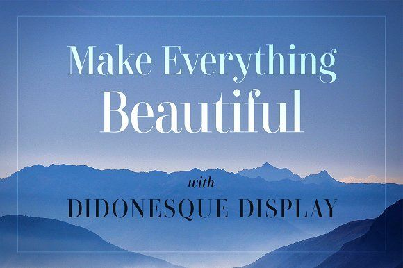 Didonesque Display - 2 Font Pack by Paulo Goode on @creativemarket