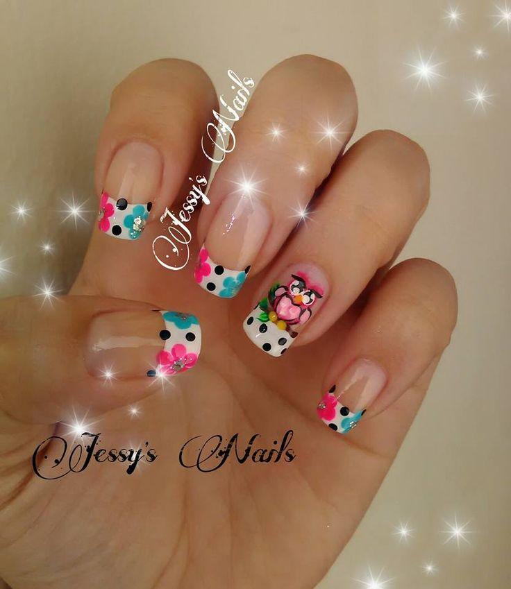 uñas con búhos #nai #nails #nailart #uñas #uñasdecoradas #búho #lechuza…