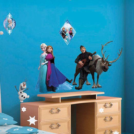Elsa & Co from movie Frozen / Frost. Wallsticker childrens room.