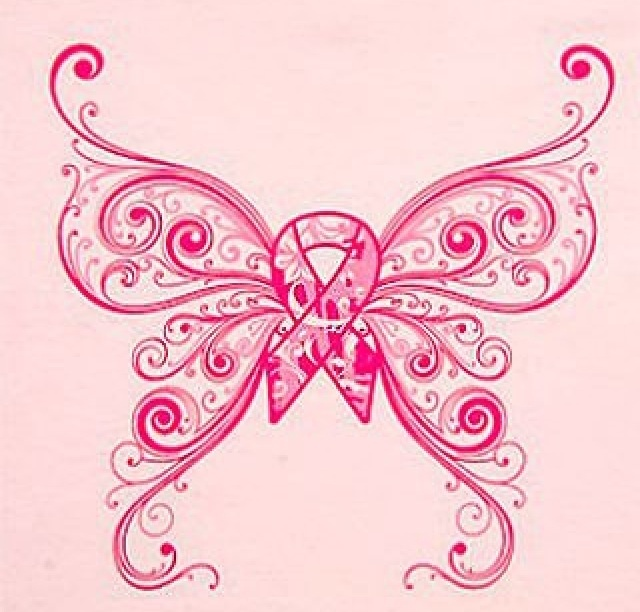 Pink ribbon tattoo