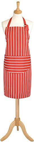 (Rød, sort og grøn) Classic Butcher's Stripe 100 Percent Cotton Standard Length Adult Apron, Red Classic Butcher's Stripe http://www.amazon.co.uk/dp/B003O2683E/ref=cm_sw_r_pi_dp_5l2Vwb0WSW76M