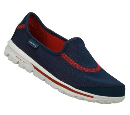 SKECHERS Womens Skechers Gorecovery Slip-on Sneakers - Navy Blue/Red - 7.5