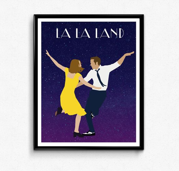 La La Land Poster Minimalist Movie Print Wall Art by TheFilmArtist