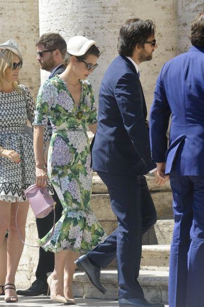 Шарлотта Казираги посетила в Риме свадьбу вместе с Димитрием Рассамом
