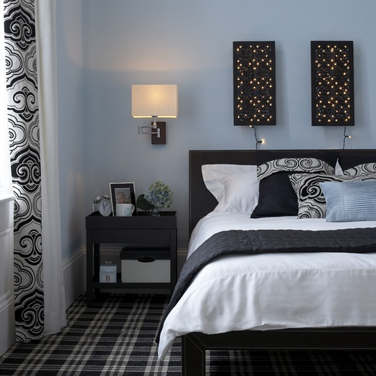 black white and blue bedroom 17 best images about guest bedroom blue gray and black on black metal bed frame 4068