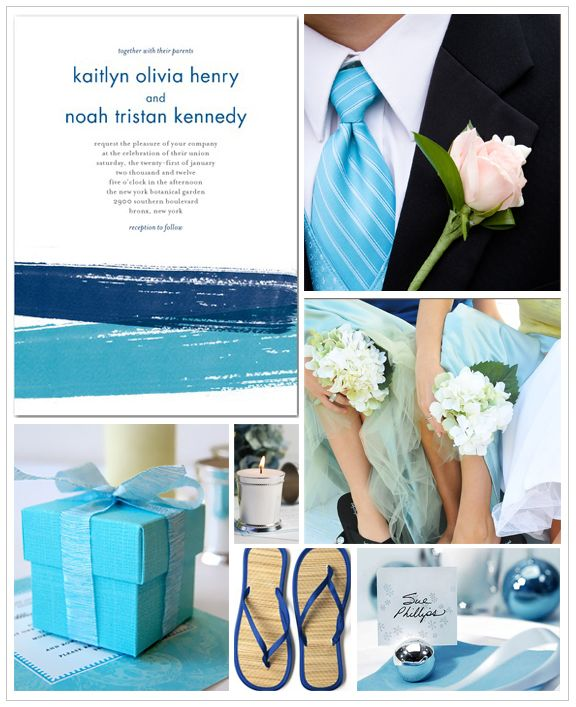 Marine Blue Wedding Inspiration Board | Wedding Paper Divas Blog