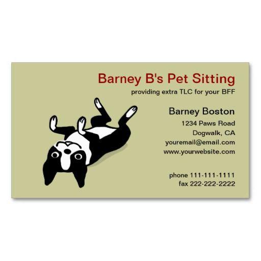 The 257 best pet care business cards images on pinterest business cute boston terrier pet care business card colourmoves