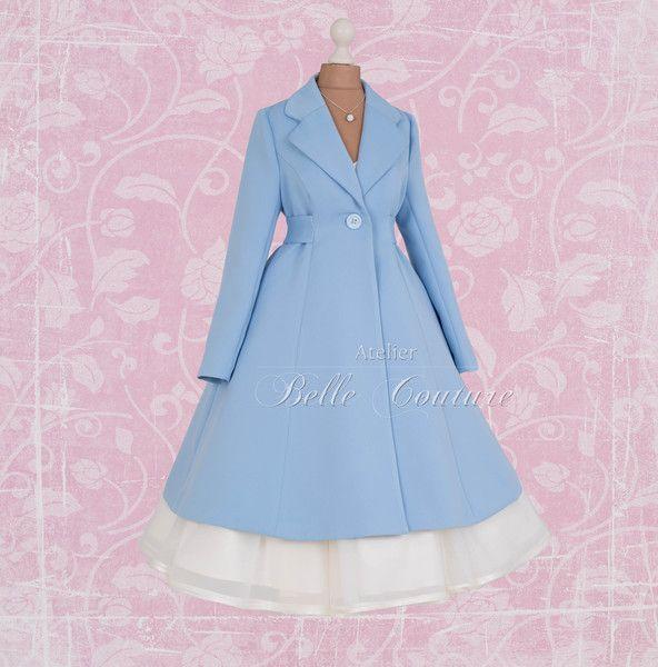 """Kurzmäntel - Brautmantel """"Tiffany"""" im 50er Jahre Stil - ein Designerstück von atelier-belle-couture bei DaWanda"""