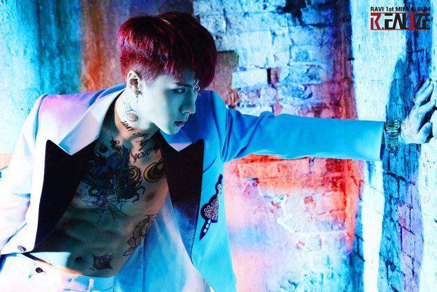 VIXX's Ravi is sexy in concept images for his mini-album | allkpop.com