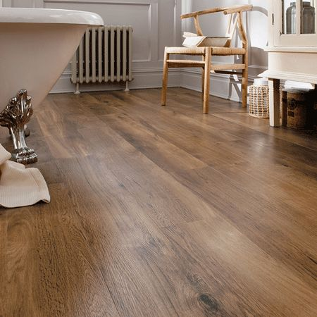 Karndean vinyl plank. I think this is what I'm settling on now for our bathroom and kitchen.