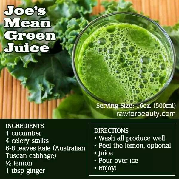 "Green juice inspired by ""Fat, Sick and Nearly Dead"" documentary"