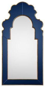 Bunny Williams for Mirror Image Home Sapphire Mirror - mediterranean - mirrors - Layla Grayce